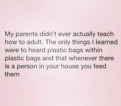 My mom must have a thousand plastic bags stored just like this! Haha