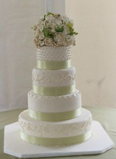simple wedding cakes - Google Search ribbon color