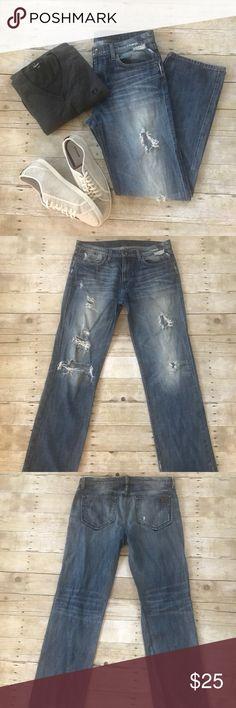 •Joe's Jeans Classic Fit- Factory Distressed• Joe's Jeans denim in medium-light wash. Factory distressed. Normal signs of wear. Joe's Jeans Jeans