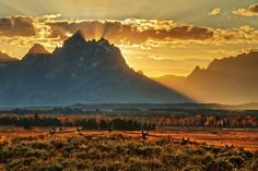 The Grand Tetons, Wyoming, in the fall.......A stunning sight from every turn! We never wanted to see the end of it!
