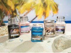 Yankees Beach inspired candles