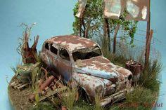 icu ~ Pin by Hakan Yılmaz on Diorama Junkyard Cars, Weather Models, Model Cars Building, Christmas Village Houses, Military Diorama, Abandoned Cars, Miniature Houses, Barn Finds, Old Cars