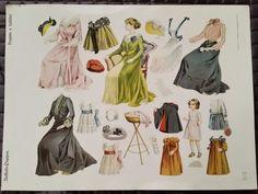 VINTAGE UNFLEIDE PUPPEN POUPEES A HABILLER PAPER DOLLS UNCUT #1 GERMANY in Dolls & Bears, Paper Dolls, Vintage | eBay