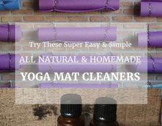 Natural Homemade Yoga Mat Cleaner