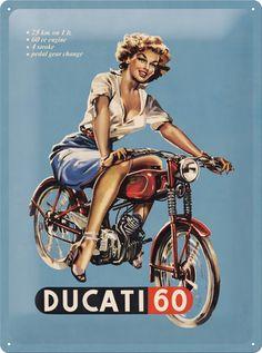 Ducati 60 Classic Vintage Old Bike Motorcycle Pin-up Girl Gi.- Ducati 60 Classic Vintage Old Bike Motorcycle Pin-up Girl Gift Fridge Magnet Art Bike Poster, Motorcycle Posters, Motorcycle Art, Bike Art, Ducati Motorcycle, Pin Up Girl Vintage, Art Vintage, Vintage Ads, Pin Up Posters