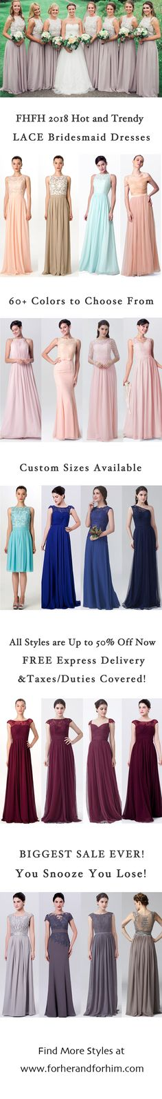 FHFH Lace bridesmaid dresses! All styles are on Crazy Spring Sale now, don't miss it!