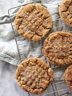 Flourless Chewy Cinnamon Sugar Peanut Butter Cookies #recipe