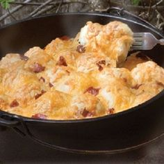 Dutch Oven Bacon Cheese Pull Aparts (by Rhodes Rolls) Recipe | Just A Pinch Recipes