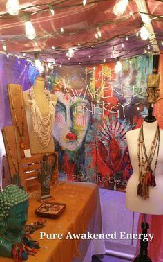RAW NYC booth rawartists.org #display #love #buddha #mala #handmade #jewelry