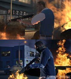 Comparisons: GTA 4 vs. GTA 5 -