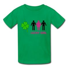 Threesome Lucky Girl (2c) Youth T-shirts on Sale-NSFW (Not Safe For Work) T-shirts with 100% pre-cotton shirts with expert online help. http://hicustom.net to Print your own shirt with custom text, designs or photos.