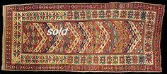 Gendje: Antique oriental rugs; antique oriental rug, Genjeh