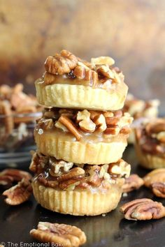 Have pecan pie in cookie form! These Pecan Pie Shortbread Cookies feature a buttery crust and are topped with maple caramel pecans.