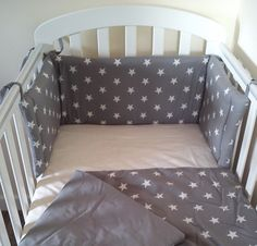 Star Cot Cot Bed Mini Crib bedding set Bumper and by SiennaChic, £64.99