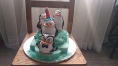 Penguins of Madagascar cake/ tort Pingwiny z Madagaskaru