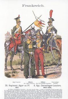 Band XVIII #3.- Frankreich. 30.Regiment Jäger zu Pferde. 1811. 9.Regiment Chevauleger-Lanciers. 1813-1814.
