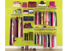 Deluxe Closet Kits | Configurations | Home Free | Closet Organization | Rubbermaid