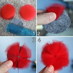 super easy tulle flowers. going to do this NOW!