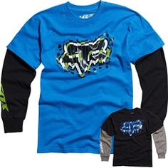 2013 Fox Racing Griswold 2Fer Long Sleeve Tee Motocross Youth Apparel Shirt