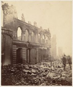 ruins from the great fire of boston, November 1872