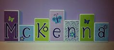 Personalized Wood Blocks M2M NoJo's Beautiful by KissedByKimmy-once I figure out a name for baby girl!