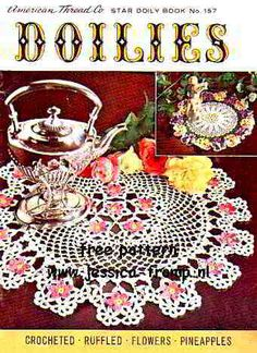 Tea and Roses doily free vintage crochet doilies patterns