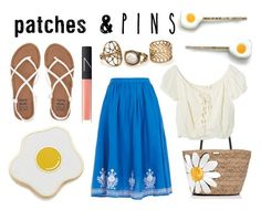 Egg Pin! by eleanalda-luthien on Polyvore featuring Jens Pirate Booty, YMC, Billabong, Kate Spade, Georgia Perry, Crown and Glory, NARS Cosmetics and patchesandpins