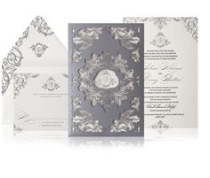 Glamorous Wedding Invitation Ideas for Discerning Brides. To see more: http://www.modwedding.com/2014/04/12/glamorous-wedding-invitation-ideas-for-discerning-brides/ Featured Invitation: Atelier Isabey