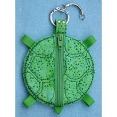 In The Hoop :: Bags, Cases & Wallets :: Turtle Coin Pouch - Embroidery Garden In the Hoop Machine Embroidery Designs
