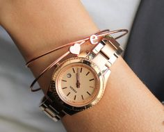 Bangles Rose Gold Layering Bangles Rose Gold by PROJECTDAHLIA
