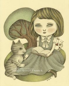 Original Illustration (Drawing) - Yes Miss Alice by Amalia K