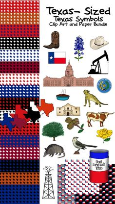 This bundle has everything you need if you teach in Texas!!! Nineteen Texas-themed papers and 41 pieces of Texas Clip Art!!!!!