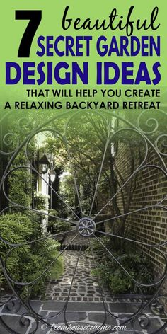 Lots of beautiful ideas for creating a secret garden room in your own backyard. A wrought iron gate looking into a courtyard is something I would love to have in my garden.  #fromhousetohome #secretgarden #gardening #gardenideas #outdoorlivingspace #patiosanddecks Backyard Shade, Backyard Plan, Backyard Retreat, Backyard Landscaping, Shade Garden, Most Beautiful Gardens, Unique Gardens, My Secret Garden, Secret Gardens