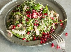 Fenchelsalat mit Quinoa und Granatapfelkernen