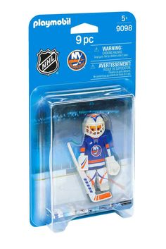 PLAYMOBIL NHL New York Islanders 9098 Goalie Playset Hockey Game Kids Toy New #PLAYMOBIL #NewYorkIslanders