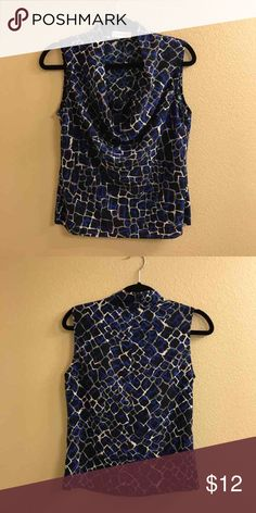 Blue and black Michael Kors blouse New without tags. Silky like. No flaws. Size small. Michael Kors Tops Blouses