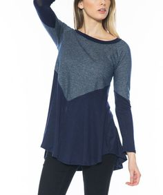 Another great find on #zulily! Navy Color Block Boatneck Tunic #zulilyfinds