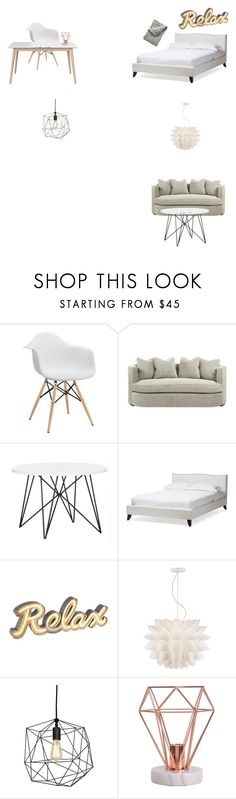 """Untitled #4"" by sara-myllymaa on Polyvore featuring interior, interiors, interior design, home, home decor, interior decorating, Baxton Studio, Possini Euro Design and Serena & Lily"