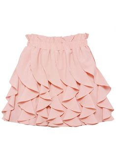 Pink Pleated Puff Chiffon Skirt $40! http://udobuy.com/goods-10847.html