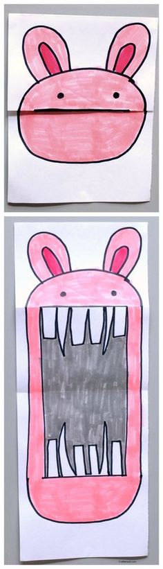 In this art project, kids turn sweet looking animals into ferocious beings. Kids love this!