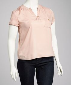 Take a look at this Pink Plus-Size Top by High Fashion on #zulily today!  $14.99, regular 30.00