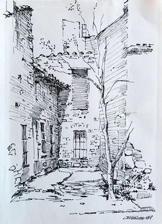 House drawing easy drawings ideas awesome a to in dream . Realistic Drawings, Cool Drawings, Drawing Sketches, Sketch Ink, Simple Drawings, Pencil Drawings, Drawing Ideas, Contour Drawings, Charcoal Drawings