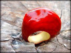 Anel feito artesanalmente em semente de buiuçú e metal. Tamanhos  personalizados.