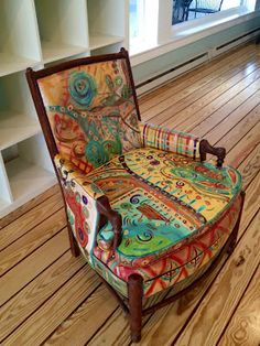 What a cool chair. Painted! One of a kind!