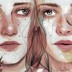 Art Draw Dibujo Woman Mujer Mujeres Arte Dibujo Acuarela Watercolor