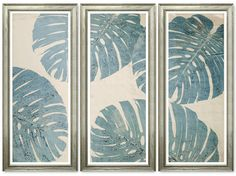 TROWBRIDGE - Aviva Elephant Ear Triptych - This series of unique one-of-a-kind framed textiles is by the US designer Aviva Stanoff in collaboration with TROWBRIDGE. Each textile panel is hand-dyed, etched and painted one at a time in Aviva's California studio and they celebrate the botanicals that inspired it. Because each panel is produced by hand the composition and colour of each panel will vary with each batch of textiles that are produced. The images shown on this page are for guidance…