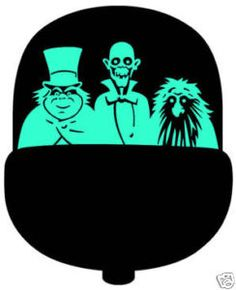 Haunted Mansion - Ghosts in Doombuggy vinyl Decal, NEW