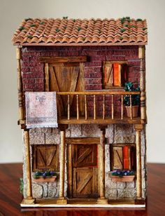 Diy Dollhouse, Dollhouse Miniatures, Small Wooden House, Fantasy House, Handmade Journals, Vintage Diy, Miniature Houses, Miniature Furniture, Miniture Things