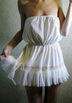 a tiny beach dress/or cover up....so cute