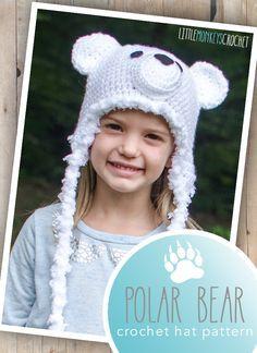 Free 6-12m Polar Bear Hat Crochet Pattern | Little Monkeys Crochet